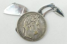 1845 French 5 Francs Coin Knife-Eloi Pernet
