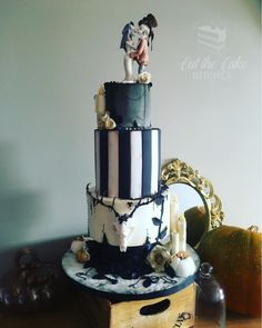 Halloween Wedding Cake by Emma Lake - Cut The Cake Kitchen - http://cakesdecor.com/cakes/293827-halloween-wedding-cake