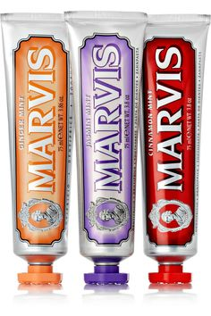 Marvis | Cinnamon Mint, Jasmin Mint and Ginger Mint Toothpaste, 3 x 75ml | NET-A-PORTER.COM