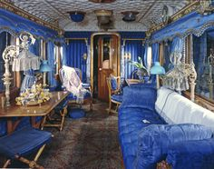 LNWR Queen Victoria's Saloon (LMS No. 802) - Interior of Day Saloon. National Railway Museum, York.