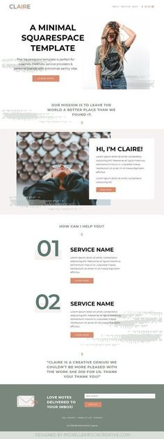 Homepage layout & design on the Brine Template. Why I love the Brine Template! Website Design Inspiration, Website Design Layout, Homepage Design, Layout Design, Brand Inspiration, Web Layout, Blog Design, App Design, Simple Website
