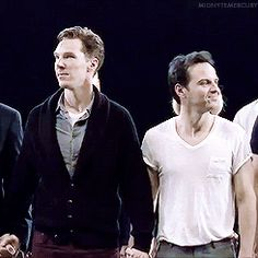 "This gif: Andrew Scott's expressions seem to read, ""Yeah that's right, guess who gets to hold his hand?... NOT YOU!"""