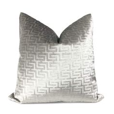 Silver Pillows, Linen Pillows, Throw Pillows, Living Room Decor Pillows, Under The Lights, Pattern Fabric, Greek Key, Grey Stone, Fabric Samples