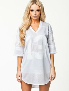 Next Level Jersey Dress - Fanny Lyckman For Estradeur - White - Dresses - Clothing - Women - Nelly.com Uk