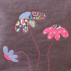 4 Freizeiten: Angstgegner bezwungen - hier kommt meine Chevrontasche Tasche nähen, Lillesol und Pelle, Applikation Blumen