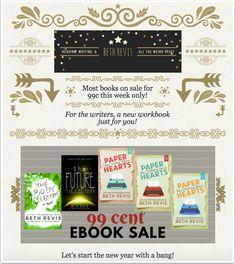 Beth Revis's newsletter promoting a $0.99 ebook sale