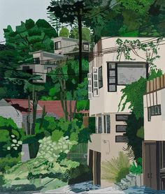 JONAS WOOD SEPTEMBER 12 - OCTOBER 19, 2013 Schindler Apts, 2013  Oil and acrylic on canvas  132 x 112 inches  Courtesy Anton Kern Gallery, N...