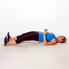 FULL-BODY BRIDGE- This bridge variation engages your entire body, with an extra emphasis on your backside.
