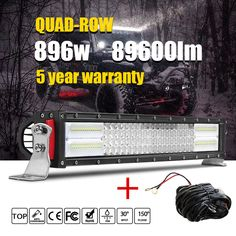 """4ROW 22INCH 896W Philips LED WORK LIGHT BAR SPOT FLOOD COMBO vs 20'' 23"""" 24INCH #Colight Led Work Light, Work Lights, Jeep Light Bar, Types Of Jeeps, Jeep Lights, Sink Design, Heavy Equipment, Bar Lighting, How To Apply"""