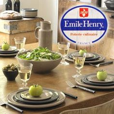 Emile Henry #JillsTable Emile Henry, Stables, Table Settings, Table Decorations, Tableware, Kitchen, Home Decor, Pottery, Cooking