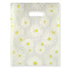 $0.23 Amazon.com: Gift Bag - Frosted White Large Daisy