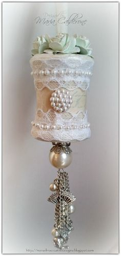 Maria Lina's Creative Designs: How To Video...Shabby Chic Altered Spool