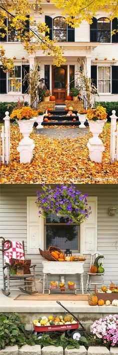 25 splendid DIY fall decorations for your front door and porch: from pumpkin…