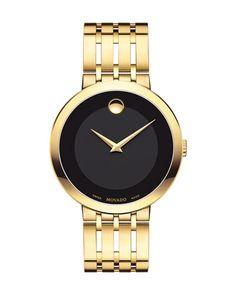 N48SW Movado 39mm Esperanza Watch, Gold