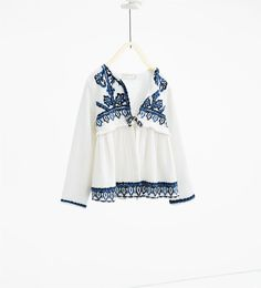 Flowing embroidered jacket-GIRL | 4-14 years-NEW IN | ZARA United Kingdom