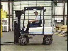 Video: The Sidewinder Omni-Directional Lift Truck by Airtrax. More: http://en.wikipedia.org/wiki/Mecanum_wheel