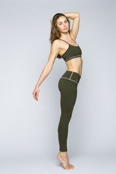 3641e61a33 Jennifer Pansa wearing YOGiiZA Organic leggings and sports bra Yoga  Leggings, Yoga Pants, Organic