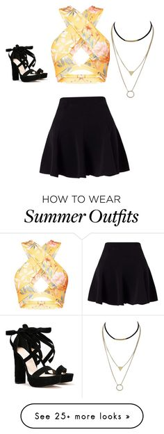 """RANDOM OUTFIT #1"" by keaghansmerjac on Polyvore featuring Miss Selfridge and Nasty Gal"
