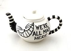 paint your own pottery alice in wonderland teapots - Google Search
