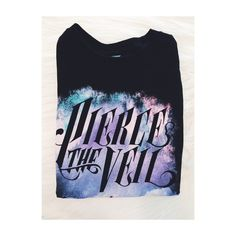 Pierce The Veil Band Tee  PTV collide with the sky band t-shirt - new without tags (received as gift). Prices are negotiable, feel free to make an offer comment any questions, etc. & I'll be happy to answer them. Hot Topic Tops Tees - Short Sleeve