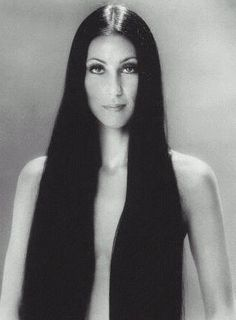 Center parted hairstyles of the 60s and 70s