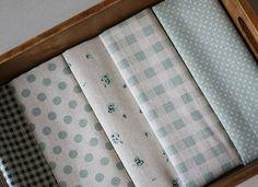 25x110cm Cotton Linen Fabric Polka Dots Gingham Rose Green   eBay