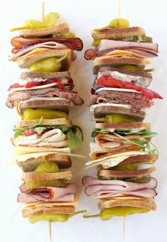 These Club Sandwich Kabobs are the most epic party food! Easy to grab and tons to eat!