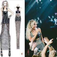 New Mrs. Carter Versace tour outfit