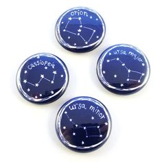 Star Constellations Button Set on Etsy, $7.00