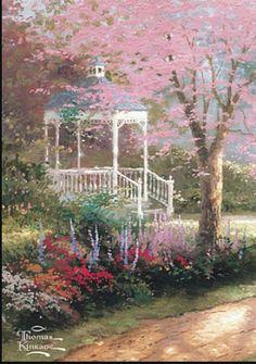 "Thomas Kinkade, ""Painter of Light"" - Photo 7 - Pictures - CBS News Kinkade Paintings, Oil Paintings, Paintings Famous, Thomas Kinkade Art, Thomas Kincaid, Art Thomas, Light Painting, Famous Artists, Beautiful Paintings"