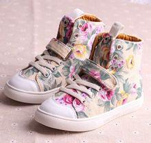 velikost 26-37 Dětské zboží dívka nové 2014 podzim zima květinovým potiskem  módní tenisky děti 021daf712f