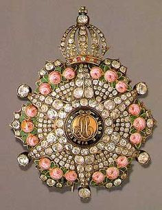 Order of the Rose, breast star with diamonds - Brazil