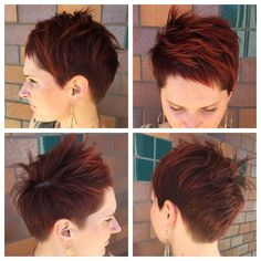 Red pixie! I think yes! #shortstyle #pixie #pixiehaircut #shorthaircut #haircut #hairart #haircolor #goldwell #ilovemyjob