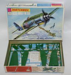 Learn everything there is to know about Matchbox at the hobbyDB database Vintage Models, Old Models, Plastic Model Kits, Plastic Models, Airfix Models, Airfix Kits, Focke Wulf Fw 190, Military Modelling, Model Airplanes