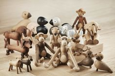 See Kay Bojesen's full assortment. Meet all of the beautiful Kay Bojesen collection of whimsical wooden figures. Amazon Animals, Lee Garden, Cadeau Design, Wood Toys, Danish Modern, Dremel, Danish Design, Decoration, Kids And Parenting