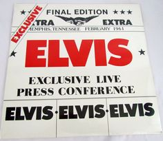 "ELVIS PRESLEY Exclusive Live Press Conference Album LP Vinyl Record 12"" SEALED #RocknRoll"
