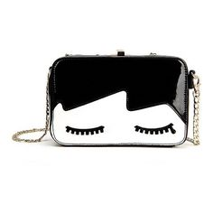 Dolly Patent Leather Shoulder Bag (1,390 PHP) ❤ liked on Polyvore