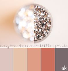 a sparkle-inspired color palette // nudes and blushes, gray, pink