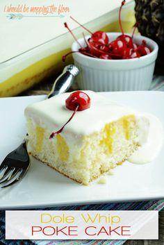 Dole Whip Poke Cake: