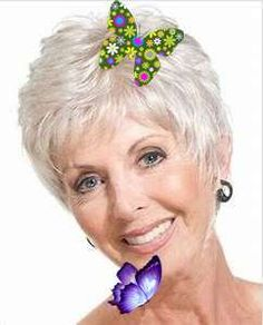 Short Gray Hairstyles for Older Women Over 50 - Gray Hair Colors 2018 | Page 5 of 8 #GrayShortHairstylesforWomenOver60<br>