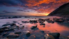 Red Reflexes, seascape, sunrise