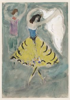 Marc Chagall. Zemphira, costume design for Aleko (Scene IV). 1942