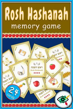 A colorful matching/memory game designed especially for Rosh Hashanah, a Jewish holiday. The cards include symbols of the holiday with titles in Hebrew and English. Great holiday activity in your classroom or at home. Memory Games For Kids, Fun Activities For Kids, Holiday Activities, Fun Games, Visual Learning, Learning Games, Hebrew School, Pomes, Different Holidays