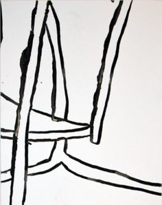 """Brian Coleman, """"Chair Details #10"""", Mixed Media on Paper, 14x11 - Anne Irwin Fine Art"""