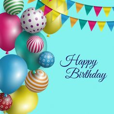 Birthday Background With Balloons Cakes And Candles Card Maker Make Cake