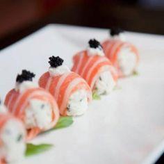 salmon sashimi with creamy blue crab..LOVE!