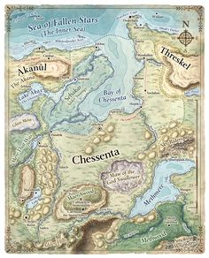 Chessenta Akanul Threskel Map Fantasy Forgotten Realms Faerun Dungeons and Dragons Toril Dnd World Map, Fantasy World Map, Medieval World, Medieval Fantasy, Cthulhu, Imaginary Maps, Village Map, Rpg Map, Building Map