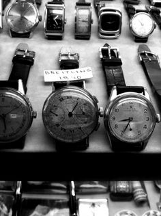 Istanbul - 1940s Breitling watch found at the Grand Bazaar in Istanbul, Turkey