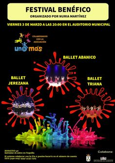 FESTIVAL BENÉFICO EN EL AUDITORIO MUNICIPAL  Albacete Ballet Abanico Ballet Jerezana Ballet Triana Cultura Albacete Festivales benéficos Noticias Albacete