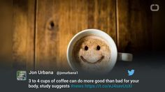Scientists said that people who drink three to four cups of coffee a day are more likely to see health benefits than harm.